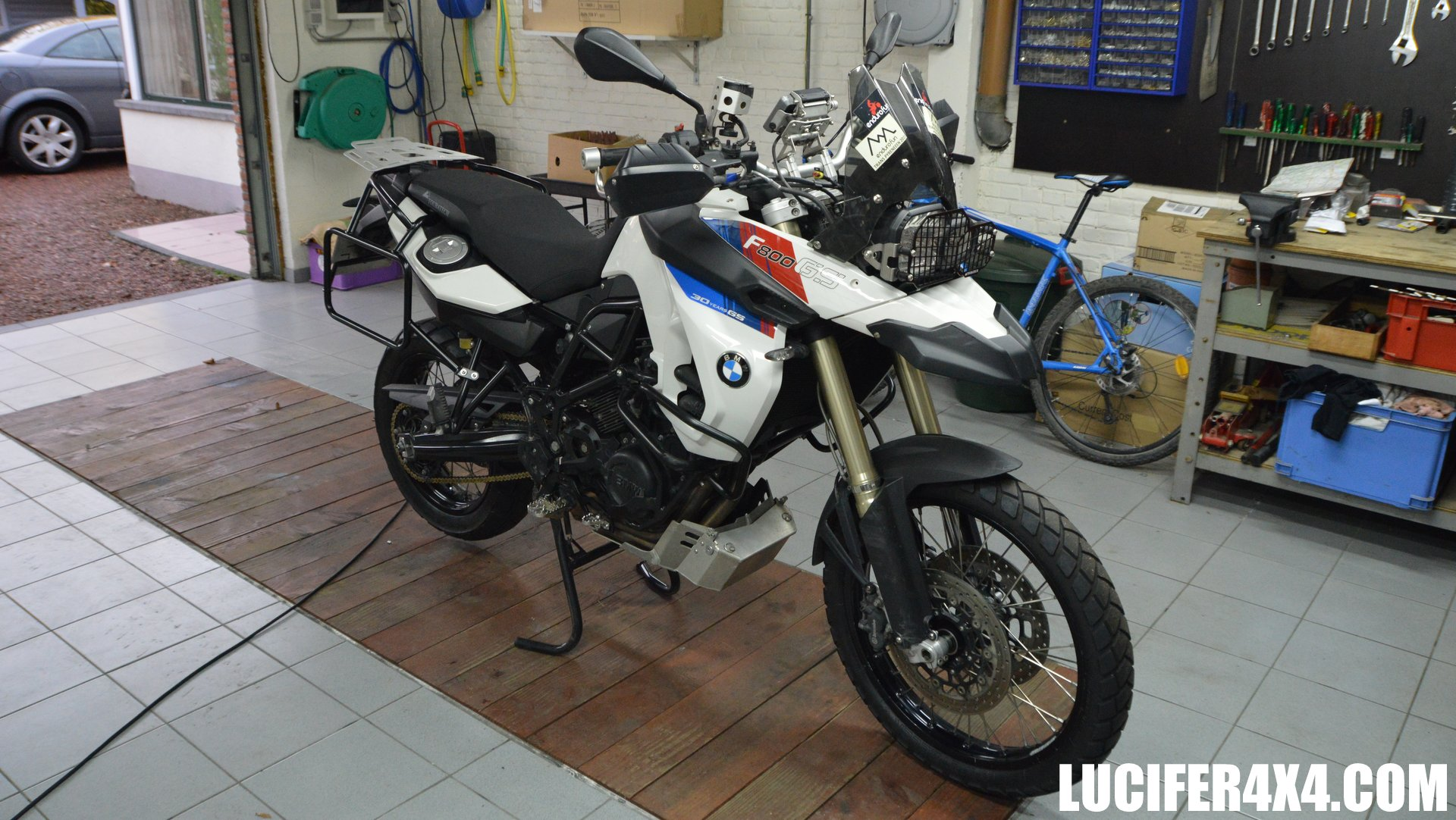 Upgrading the F800GS with Touratech parts